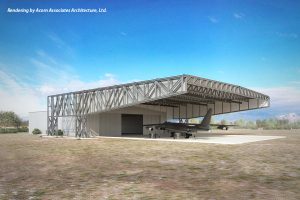 Image of restoration hangar canopy Lloyd Construction is to build