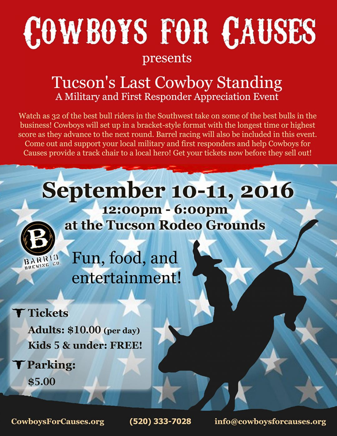 Cowboys For Causes Flyer