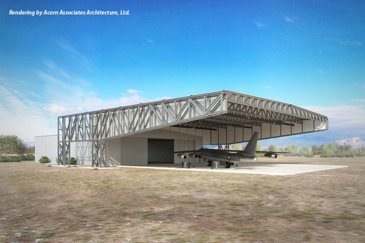 Image of restoration hangar canopy Lloyd Construction is to build